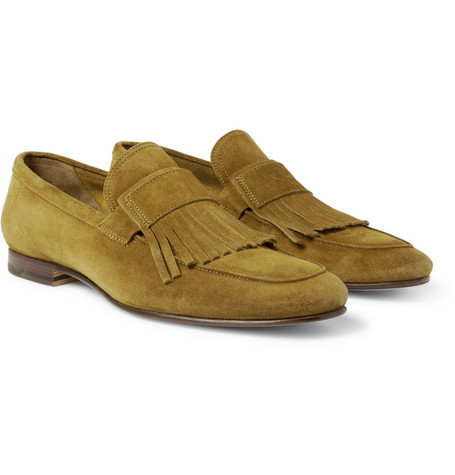Acne Lorenzo Fringed Suede Loafers