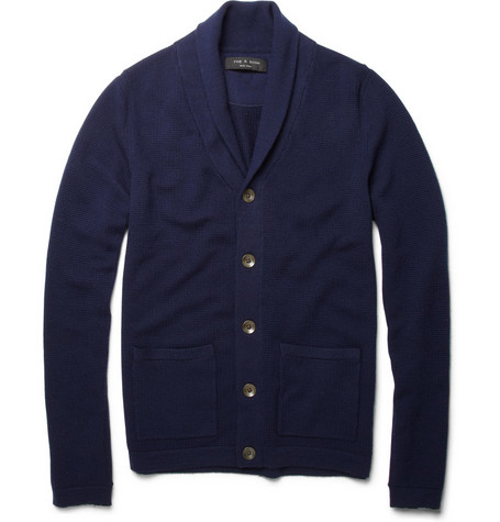Rag & bone Merino Wool Shawl-Collar Cardigan