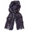 Hartford Polka-Dot Cotton-Voile Scarf