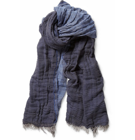 Hartford Double-Sided Linen and Cotton-Blend Scarf