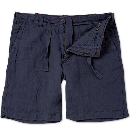 Hartford Washed Linen Drawstring Shorts