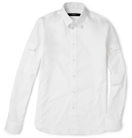 Givenchy Sleeve Pocket Cotton Shirt