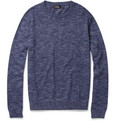 A.P.C. - Marl Cotton and Silk-Blend Sweater
