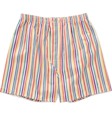 Derek Rose Wellington Striped Cotton Boxer Shorts