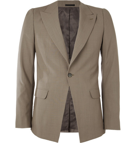 Alexander McQueen Checked Slim-Fit Wool Suit Jacket