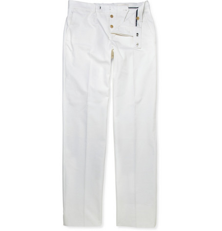 Alexander McQueen Slim-Fit Cotton-Gabardine Trousers