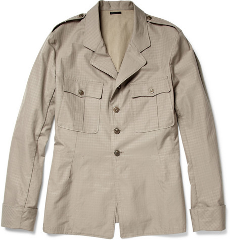 Alexander McQueen Half-Lined Cotton Field Jacket