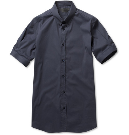 Alexander McQueen Button-Down Collar Slim-Fit Shirt