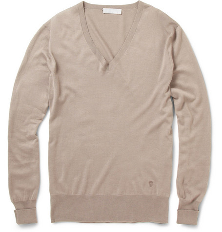 Alexander McQueen Silk and Cashmere-Blend Sweater