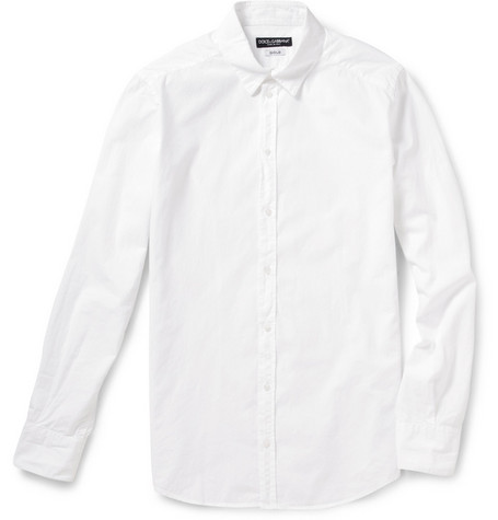 Dolce & Gabbana Gold Fit Washed Cotton Shirt