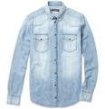 Dolce & Gabbana Sicilia Washed Denim Western Shirt