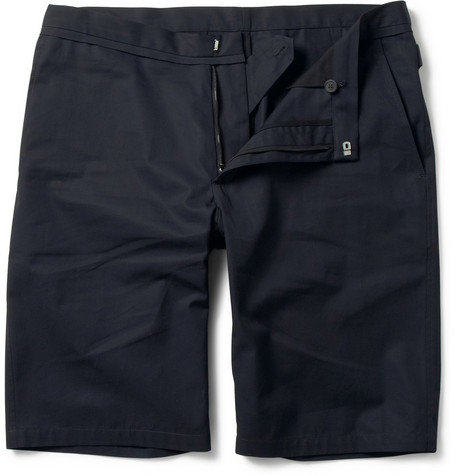 Lanvin Slim-Fit Cotton-Twill Shorts