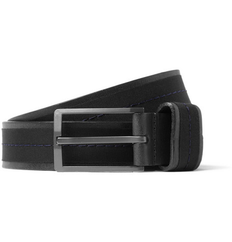 Lanvin Leather and Grosgrain Belt