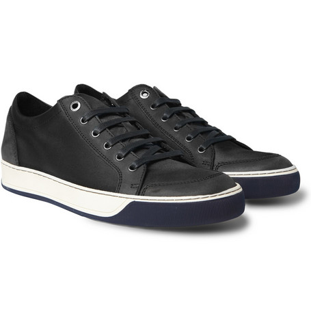 Lanvin Leather Trimmed Sneakers