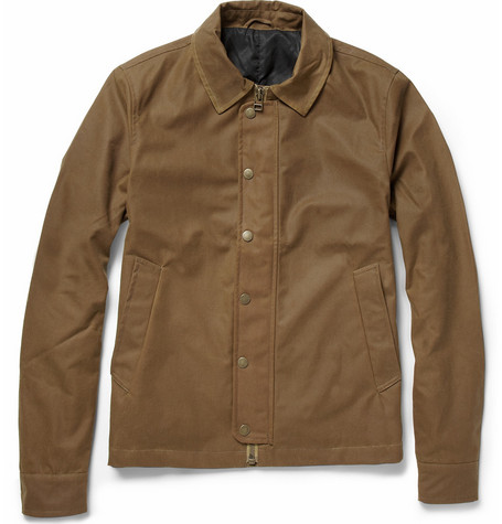 Ami Waxed Cotton Bomber Jacket