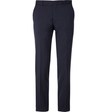 Ami Slim-Fit Wool Tuxedo Trousers