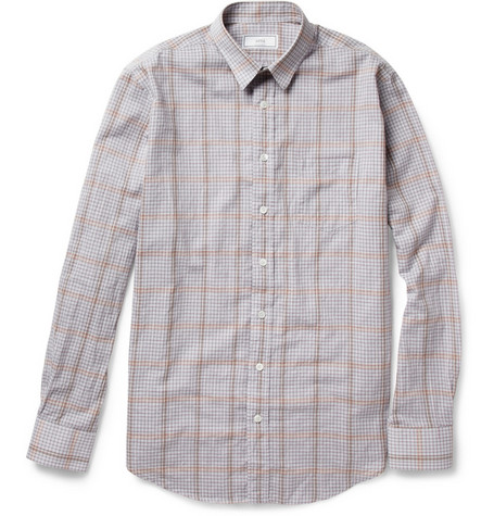 Ami Lightweight Checked Cotton Shirt