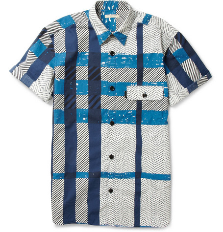 Burberry Brit Short-Sleeved Check Cotton Shirt