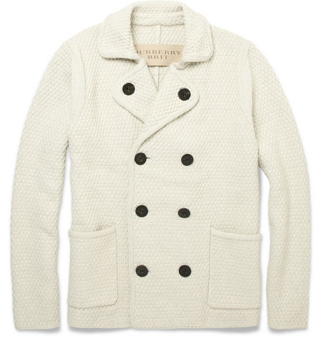 Burberry Brit Chunky Knit Cotton-Blend Cardigan