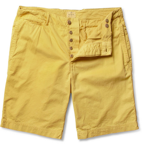 Hartford Slim-Fit Cotton-Twill Shorts