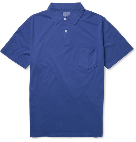 Hartford Washed Cotton-Jersey Polo Shirt