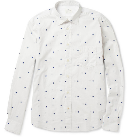 Hartford Polka-Dot Cotton Shirt