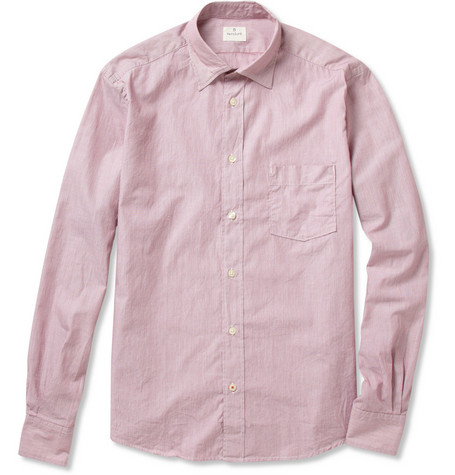 Hartford Micro-Striped Cotton Shirt