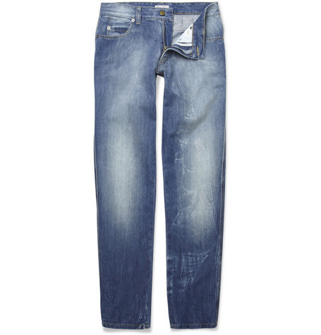 Michael Bastian Slim-Fit Distressed Jeans