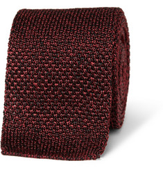 Burberry London Flecked Knitted Silk Tie