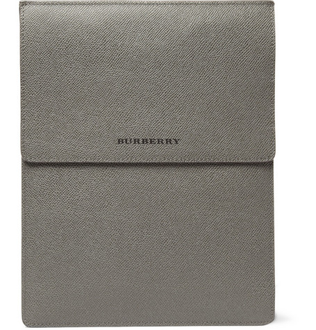 Burberry Shoes & Accessories Cross Grain Leather iPad Case