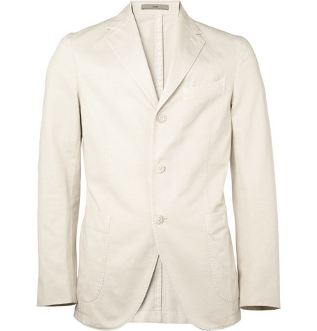 Boglioli Unstructured Cotton-Canvas Blazer