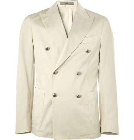 Boglioli Unstructured Double-Breasted Cotton Blazer