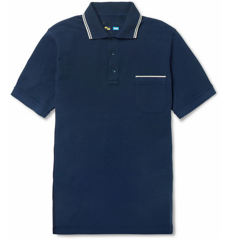 Loro Piana Regatta Striped Cotton-Piqué Polo Shirt