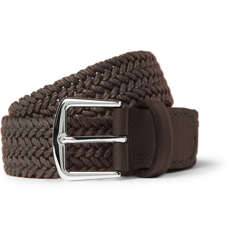 Loro Piana Woven Waxed Cotton Belt