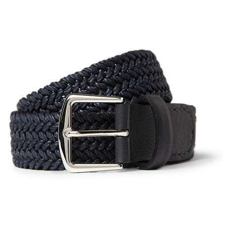 Loro Piana Woven Waxed-Cotton Belt
