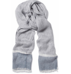 Loro Piana West Bay Striped Linen Scarf