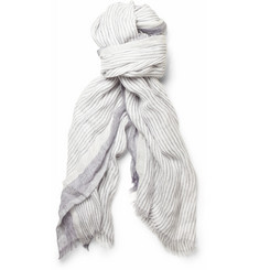 Loro Piana Striped Linen Scarf