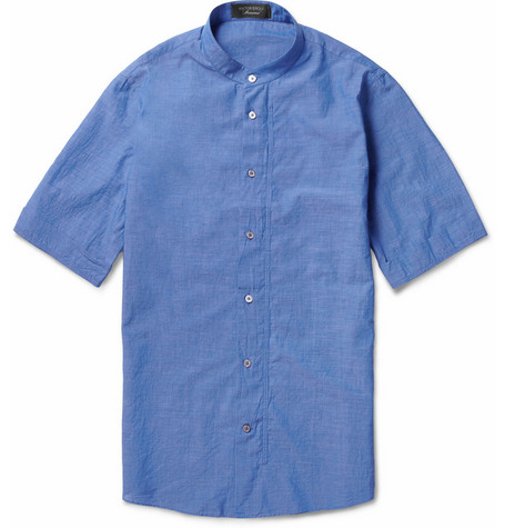 Viktor & Rolf Grandad-Collar Cotton Shirt