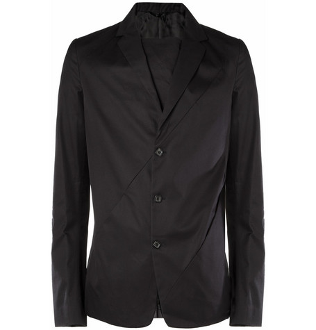 Raf Simons Diagonal-Seam Cotton Blazer