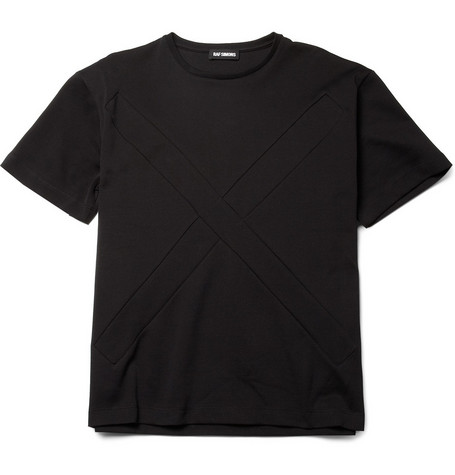 Raf Simons Panelled Cotton-Blend T-Shirt