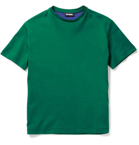 Raf Simons Contrast Lining Cotton-Blend T-shirt