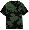 Raf Simons Flower Pattern Knitted Cotton T-shirt