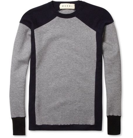 Marni Contrast-Panel Sweater