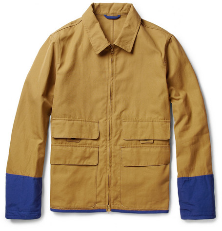 Marni Contrast-Trim Cotton-Blend Canvas Jacket