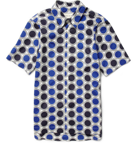 Marni Printed Short-Sleeved Cotton Shirt