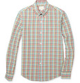 Band of Outsiders - Checked Slim-Fit Cotton-Seersucker Shirt