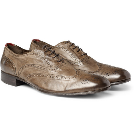Paul Smith Shoes & Accessories Distressed Classic Leather Brogues