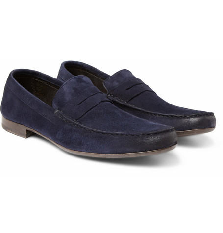 Paul Smith Shoes & Accessories Mancini Suede Penny Loafers