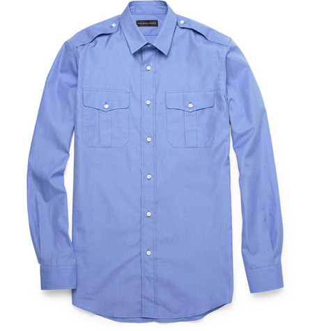 Ralph Lauren Black Label Military-Style Cotton Shirt