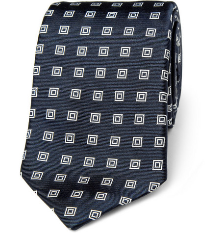 Ralph Lauren Black Label Embroidered Silk Tie